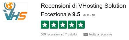recensione vhosting trustpilot