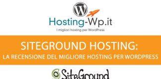 siteground hosting recensione