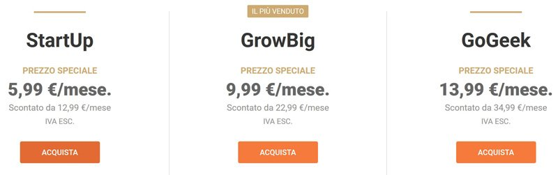 piani hosting siteground