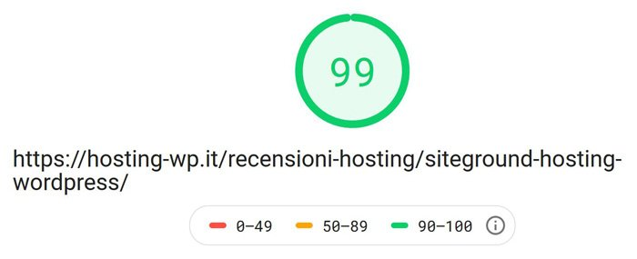 risultato test google